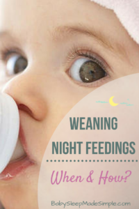 Weaning Night Feedings cute baby with bottle