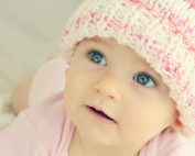 3 month-old sleep problems - Cute three months old baby girl wearing a cap