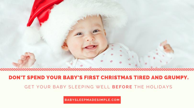 baby sleep training during the holidays