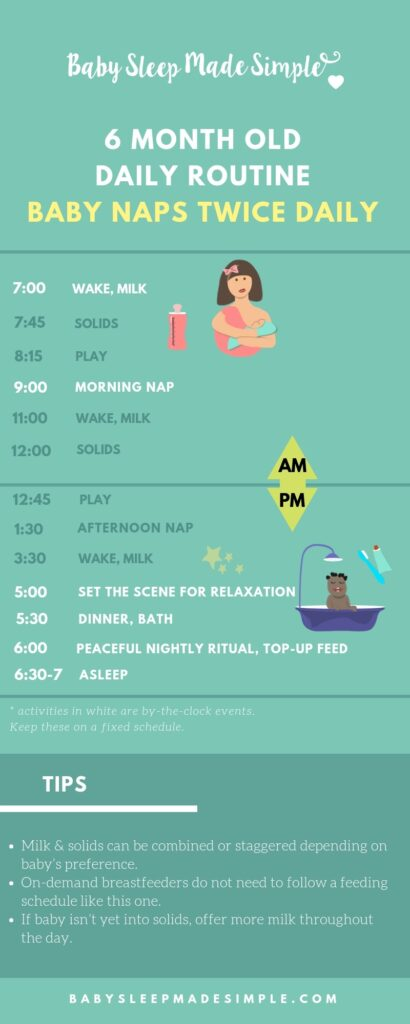 6 month old daily schedule 2 nap