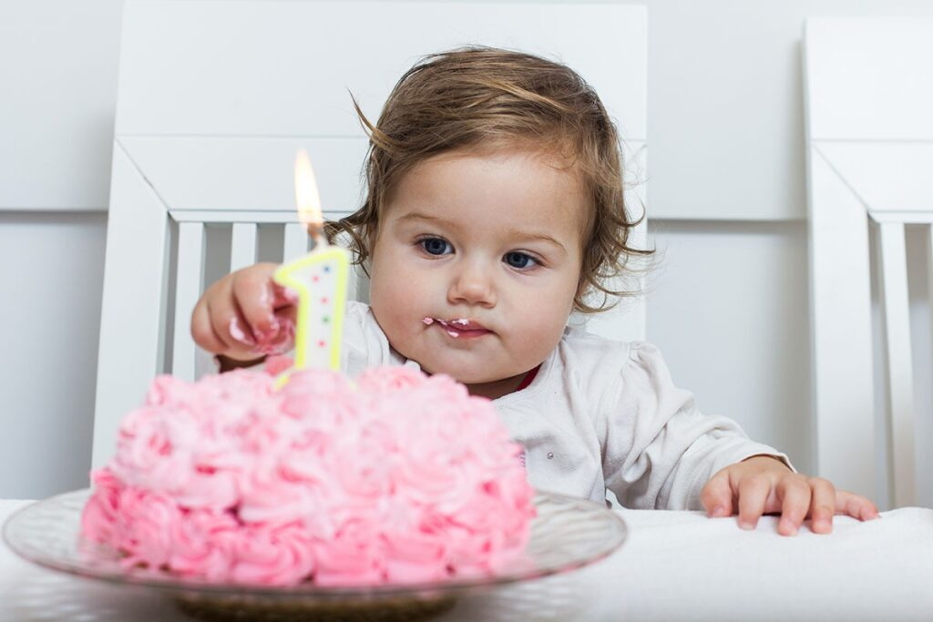 1 year old girl sleeping amazing birthday cake